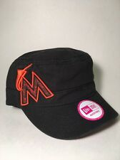 Miami Marlins New Era MLB Military Cadet Women's Adjustable Strapback Cap Hat