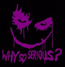 Purple Joker Why So Serious Sticker Decal Suicide Squad Harley Quinn Batman