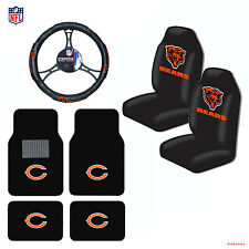 NFL Chicago Bears Car Truck Seat Covers Floor Mats Steering Wheel Cover