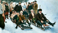 OLD PHOTO Holidaymakers Enjoying The Bobsleigh Course At Davos Switzerland