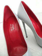 Fetish Pelle Grigio Tacco Alto 1969 Made in Italy X30 Sexy Woman Shoes Pumps 38