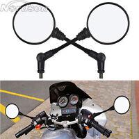 2x Universal Motorcycle Folding Rearview Side Mirror For Honda Suzuki KTM ATV