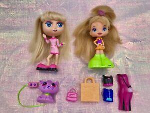"Vintage Diva Starz Alexa & Chatty Chix Doll 6"" Pet Cat Accessories Lot Y2K Toys"