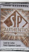 1-2008 UPPER DECK SP AUTHENTIC MLB LETTER PATCH AUTOGRAPH HOBBY HOT PACK S#ED?