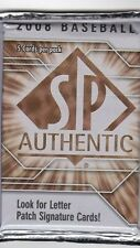 1-2008 UPPER DECK SP AUTHENTIC MLB LETTER PATCH AUTOGRAPH HOBBY HOT PACK GUAR.