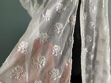 Vintage Babydoll Hanky Panky Silky White Gauze Sheer Nightie See Through Usa