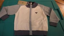 NWT ARMANI JUNIOR BOYS CARDIGAN SWEATER TOP SHIRT SIZE 12 MONTH GIFT $150