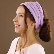 Extra Wide Purple Cotton Seamless Tube Headband Hair Wrap Cover Dreadlocks Boho
