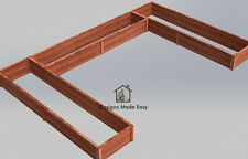 Easy DIY Raised Garden Bed Frame - Design Plans Instructions for Woodworking 03