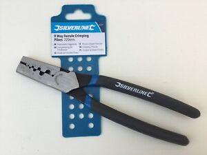 Ferrule Crimping Pliers, SILVERLiNE, 9 Way, 220mm long, 547674