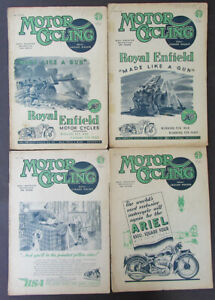 VINTAGE 1944 MOTOR CYCLING MOTORCYCLE MAGAZINE ANTIQUE BOOK ENFIELD ARIEL BSA