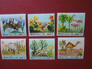 G 1915   QATAR  1971 ANIMALS/ BIRDS MI 445-450   MNH