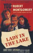 LADY IN THE LAKE Movie POSTER 27x40 Robert Montgomery Audrey Totter Lloyd Nolan