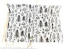 "Deny Designs  Christmas Tree Black and White Pillow Sham (26""x20"")"