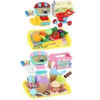1 Set Cartoon Kids Kitchen Pretend Play Toy Plastic Ice Cream Vegetables Best