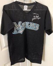 Youth Florida Marlins #25 Carlos Delgado Baseball Black Jersey Size XL YXL 18/20