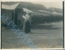 Dodhead Golf Club Mrs Hickson Driving 1st t Original  Edwardian Photo 4 x 3 inch