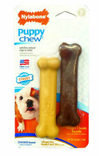 NYLABONE CHEW VALUE PACK PUPPY TWIN CHIC/PB PETITE TOY UP TO 15 LB.FREE SHIP USA