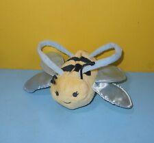 """Gymboree Children's Honey Bee Purse or Bag 5"""" Stuffed Plush Hook n Loop Closure"""