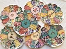 Vintage Quilt Blocks Lot Hand Sewn Dresden Plate Embroidered