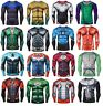 Mens Compression Superhero Top Base Layer Gym Long Sleeve Shirt Running Thermal