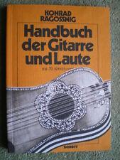 Handbuch der Gitarre und Laute -Musikinstrumente Entwicklung Notation Unterricht