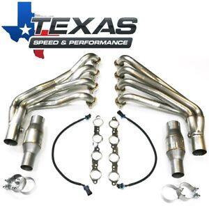 "Texas Speed TSP 2010-15 Camaro 2"" Stainless Steel Long Tube Headers & O/R Pipes"