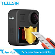 TEELSIN 2x Tempered Glass Screen Protector 9H 2.5D Full Coverage for GoPro Max