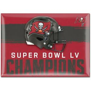 NEW! 2020 LV Super Bowl Champs Tampa Bay Buccaneers Fridge Magnet 2.5''x3.5''
