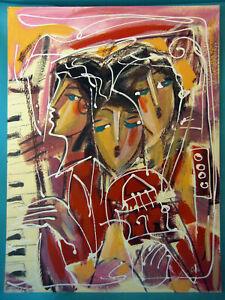 HRASARKOS Tableau Peinture Mixte sur panneau 60 cm x 80 cm Ref 292594185212