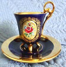 Echt Kobalt Halbach Geschenke Cobalt Blue Gold, Red Rose Demitasse Cup & Saucer