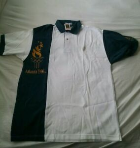 Olympic Shirt: Rare AT&T Polo Shirt AT&T Official Partner Shirt Gold Embroidery