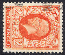KGV 1934-6 2d Orange Sideways Watermark Photogravure SG442b Fine Used