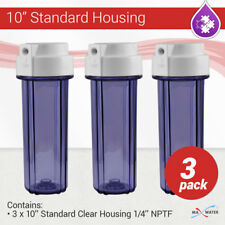 """3 x 10"""" Reverse Osmosis water filter Clear housing 1/4"""" NPT with double O ring"""