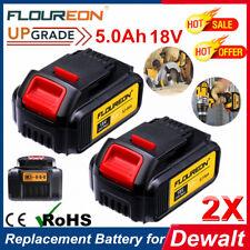 2x 5.0Ah 18V Li-ion Battery For Dewalt DCB180 DCB182 DCD785 DCF885 DCB200 DCB201
