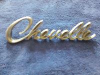 Vintage Chevrolet Chevelle Emblem Ornament Sign Badge Nameplate Script Metal