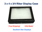 3 x 4 x 3/4 Riker Display Case Box for Collectibles Jewelry Arrowheads & More