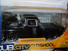 JADA 1955 55 CHEVROLET CHEVY STEPSIDE PICK UP TRUCK -Black, OLD SKOOL 1/24 -NICE