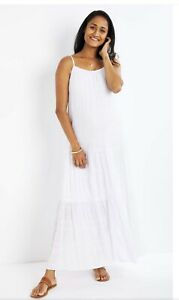 White Maxi Dress Beach Dress Maternity Dress