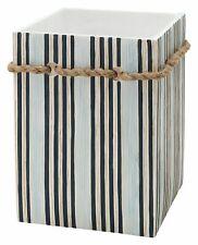 Zenna Home Seaside Serenity Waste Basket One Size White/blue