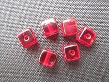 10 Glasperlen weiss  8x8mm Shamballa Makramee B952