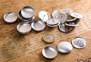 50 Sets x 44L Self Cover Button Blanks  Sewing Craft 28mm Metal Loop Non Astor