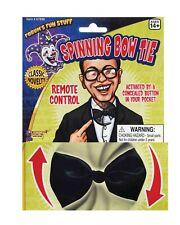 Black Spinning Bow Tie Fancy Dress Adult joke