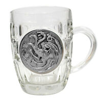 GAME OF THRONES MUG TAZZA BEER STEIN BOCCALE JUG GLASS TRONO DI SPADE TARGARYEN