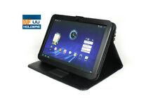 Motorola Xoom Leather Pouch Case Stand Case Black