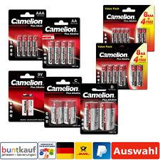 Camelion Plus Alkaline Batterie AAA AA C D 9V E-Block LR06 LR03 Auswahl