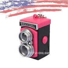 New Mini Digital LOMO Camera LED Light Flashlight Sound Keychain Key Ring - Pink