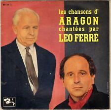 "LEO FERRE ""LES CHANSONS D'ARAGON"" 60'S 25 CM BARCLAY 80138"