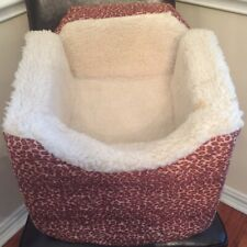 Snoozer Lookout-Dog Safety Seat Booster For Car or Home - Small Leopard Quilt