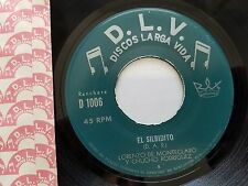"LORENZO DE MONTECLARO y CHUCHO RODRIGUEZ - Rare Latin Ranchera Corrido D.L.V. 7"""